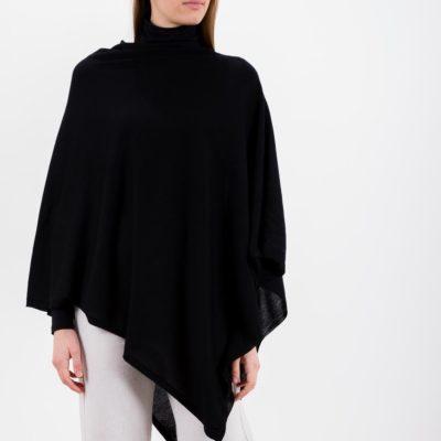 poncho-lana-seta-nero