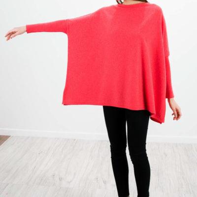 coral-red-cashmere-sweater-womens-over-boat-neckline-arte-dei-mercatanti